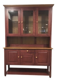 Image of Burgundy China and Display Cabinets