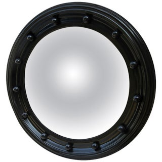 Black Framed Convex Mirror For Sale