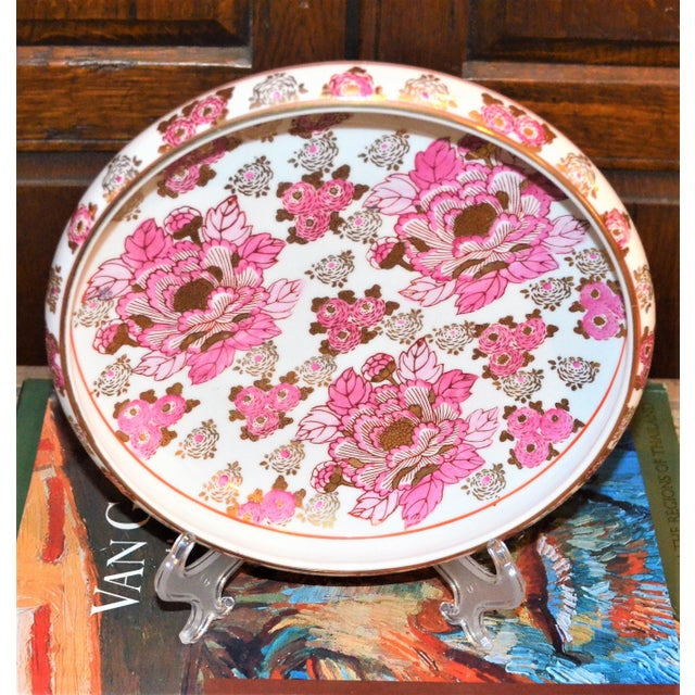 Pink and Gold Imari Japanese Porcelain Platter For Sale In Houston - Image 6 of 8