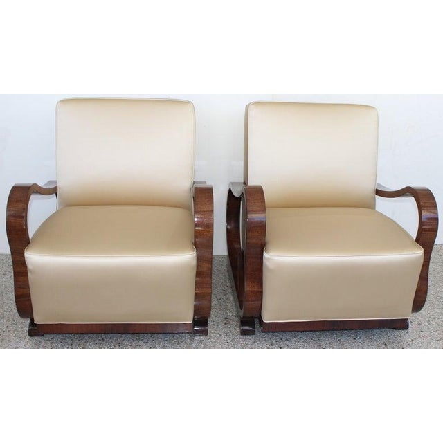 Jindrich Halabala Art Deco 1930s Jindřich Halabala Style Lounge Chairs - a Pair For Sale - Image 4 of 13