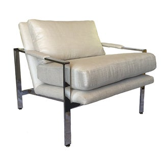Milo Baughman Chrome Lounge Chair