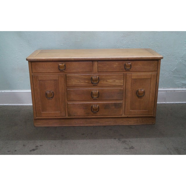 Drexel Circle D Southwest Ranch-Style Oak Buffet or Sideboard AGE/COUNTRY OF ORIGIN: Approx 60 years, America...