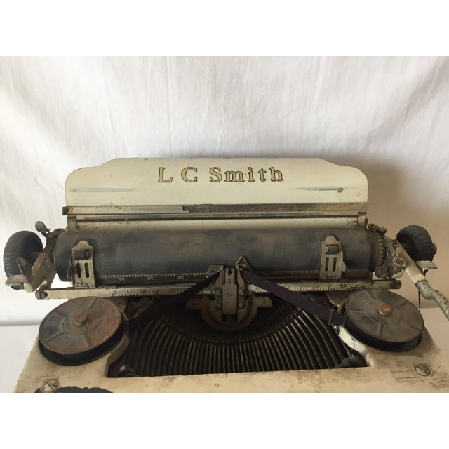 Smith & Corona Shabby Chic Ivory Typewriter - Image 4 of 4