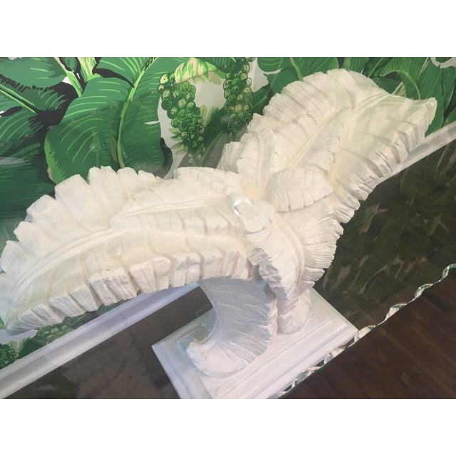 Serge Roche Sculptural Palm Leaf Console Table and Mirror After Serge Roche & Dorothy Draper For Sale - Image 4 of 9