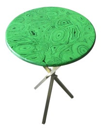 Image of Malachite Side Tables