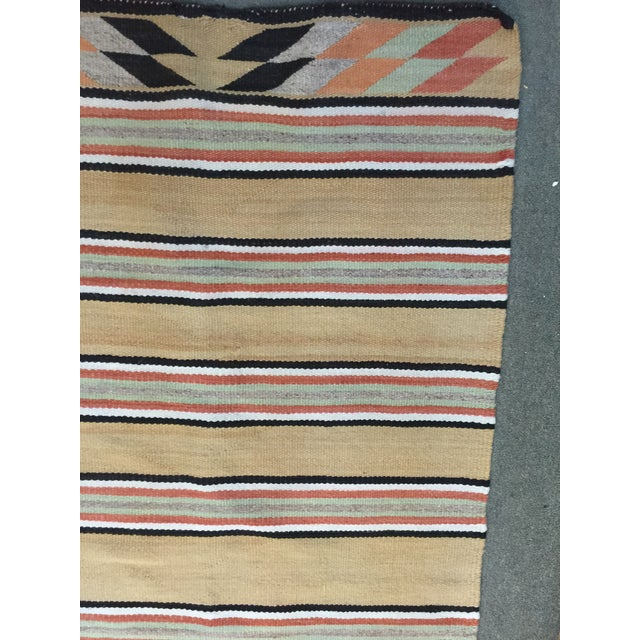 Circa 1920 Navajo Rug that is in very good condition. One slight stain and just a little wear.. A local estate find....