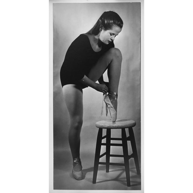"Beautiful vintage B/W photograph titled ""Young Ballerina"" by Ruth McNutt c.1961. Awards from Sunset Magazine photo club..."