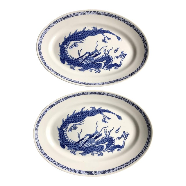 Double Phoenix Nikko Oval Dishes - A Pair For Sale