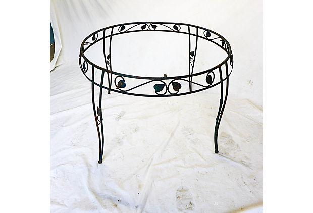 Superbe Vintage Wrought Iron Outdoor Dining Table