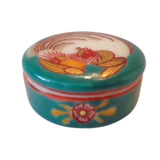 Fine Porcelain Hand-Painted Box For Sale