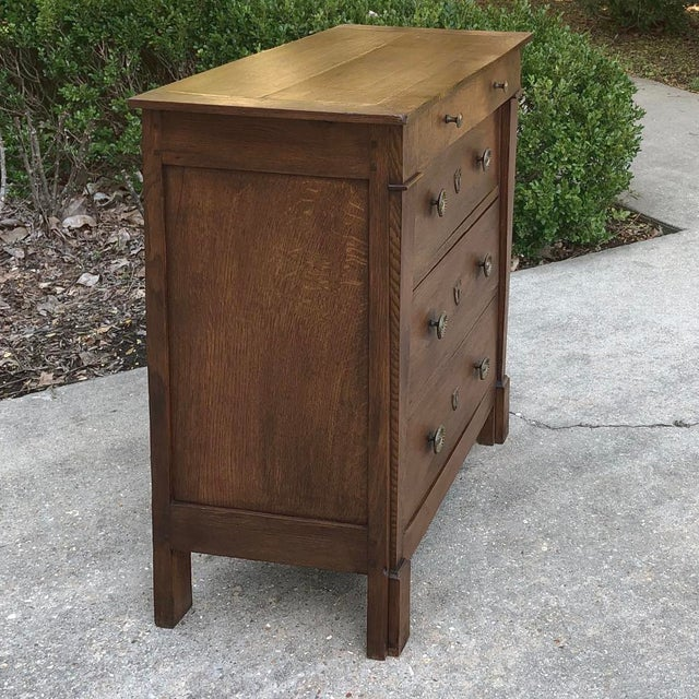 Brown 19th Century French Directoire Commode For Sale - Image 8 of 11