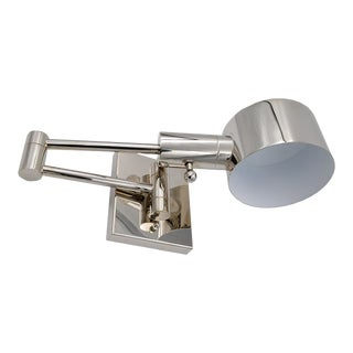 Phoenix Day Swing Arm Sconce in Polished Nickel For Sale