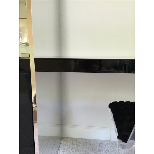 Ello Black Glass Curio Cabinet Desk For Sale - Image 11 of 11