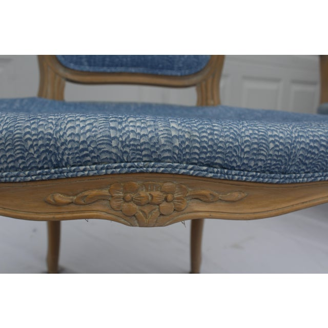 Vintage French Louis XVI Style Vintage Upholstered Arm Chairs- a Pair For Sale In Wichita - Image 6 of 10