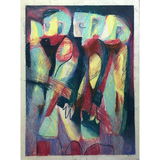Pastel Abstract Figures in a Line Drawing - Image 1 of 7