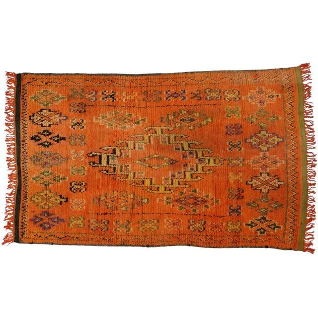 Vintage Berber Moroccan Rug, 4'11x7'11 For Sale