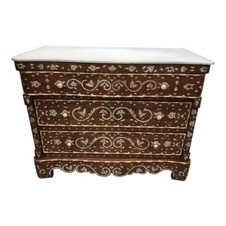 Syrian Chest of Drawers, Mother-Of-Pearl Inlay For Sale