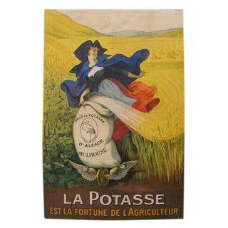 1920s Original French Agriculture Poster, Potasse Est La Fortune De l'Agriculteur - Marcellin Auzolle