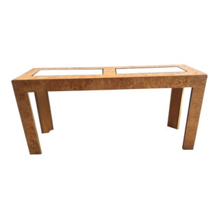 1970s Mid Century Modern Milo Baughamn Wooden Console For Sale