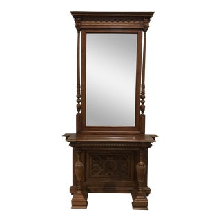 Carved Ornate Console & Mirror