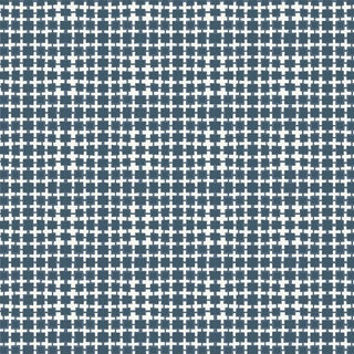 House of Harris Essex Fabric, Navy For Sale