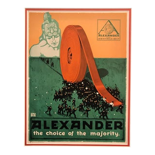 1917 American Advertisement, Alexander Belts, the Choice of the Majority For Sale