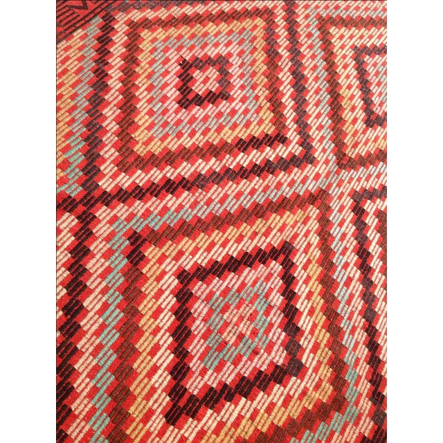"Vintage Turkish Kilim Rug - 6' x 9'11"" For Sale - Image 5 of 7"