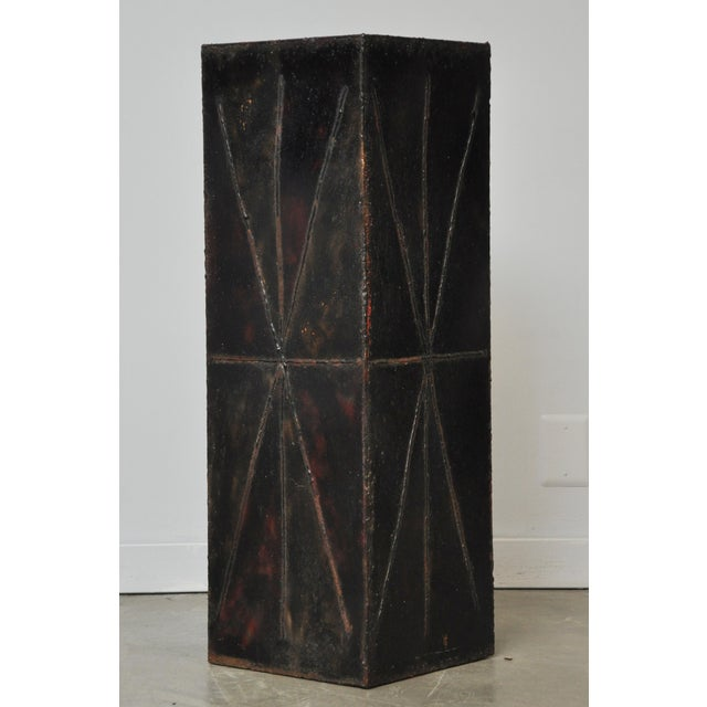 Paul Evans Sculptural Steel Planter Pedestal - Image 6 of 8