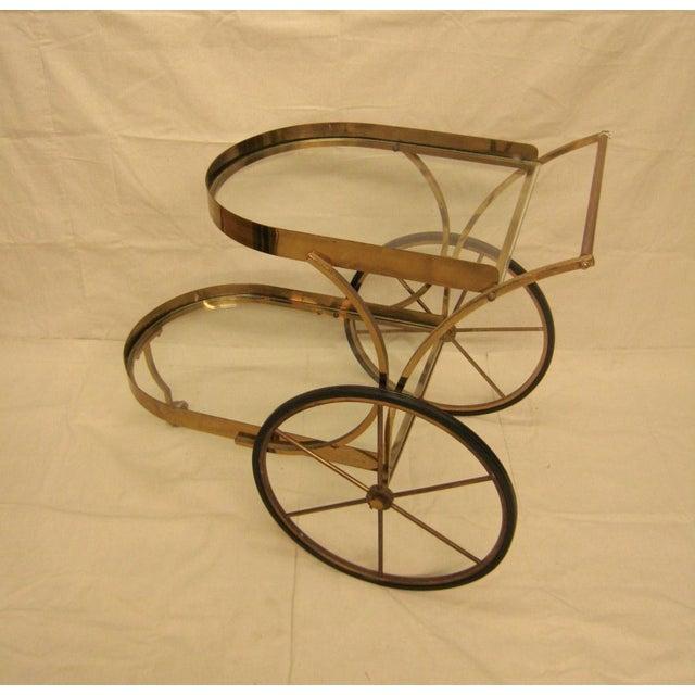 Deco Brass Bar Cart - Image 9 of 10