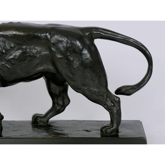 """Lion Marchant"" Antique French Bronze Sculpture by Antoine-Louis Barye, Barbedienne For Sale - Image 6 of 13"