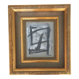 Abstract Painting Gold Frame For Sale