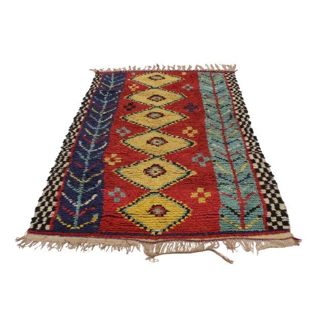 "Vintage Berber Moroccan Rug - 3'6"" x 6'2"" - Image 3 of 6"