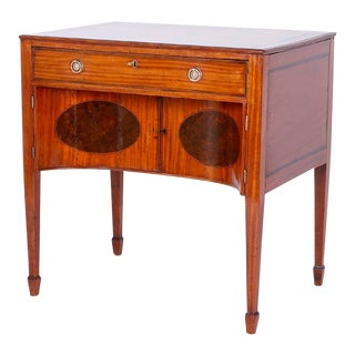 Antique English Satinwood and Mahogany Dressing Table For Sale