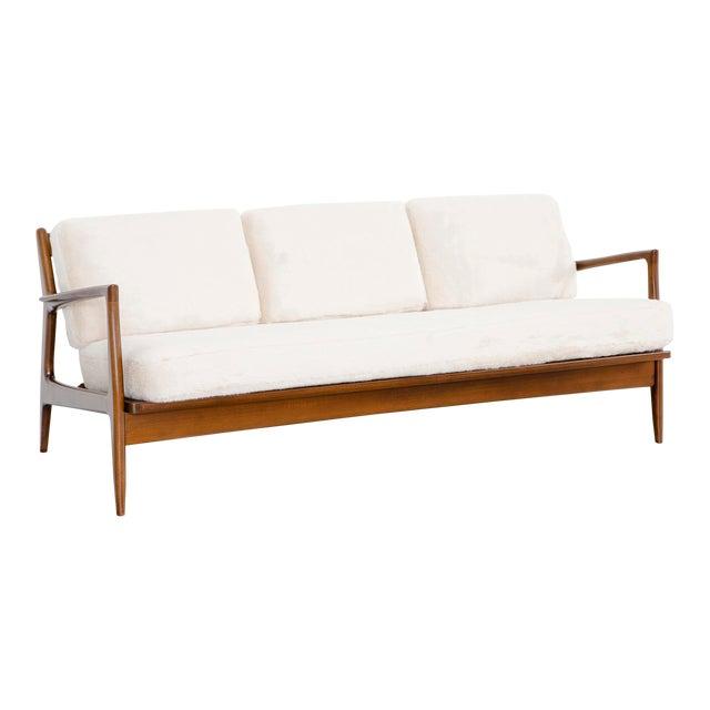 Ib Kofod-Larsen for Selig Teak Wood Sofa For Sale