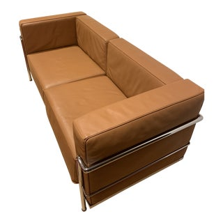 1990s Vintkage Lc3 Grand Modele Two-Seat Sofa For Sale
