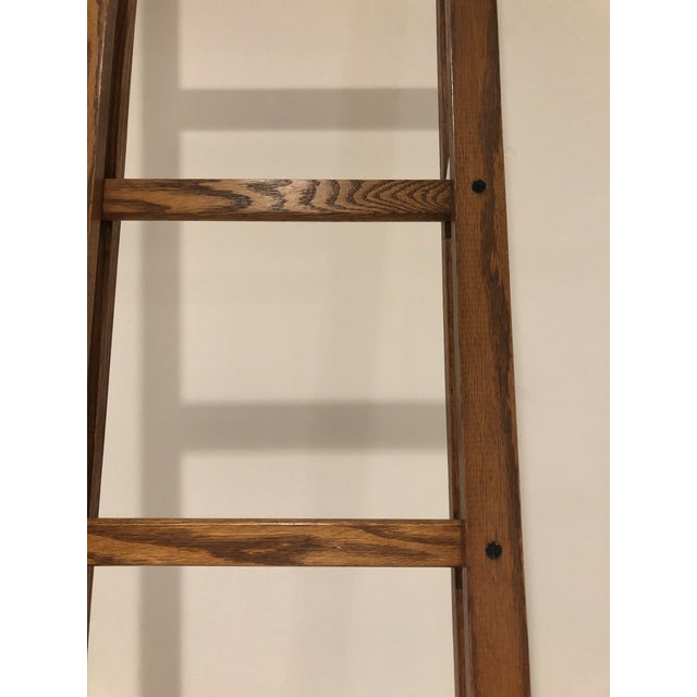 Early 20th Century Oak Stick Ladder For Sale - Image 5 of 7