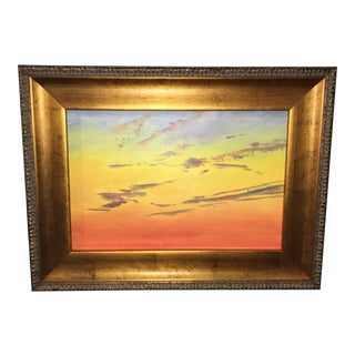 """""""Red Sunset Sky Study"""" by Unamed Artist"""