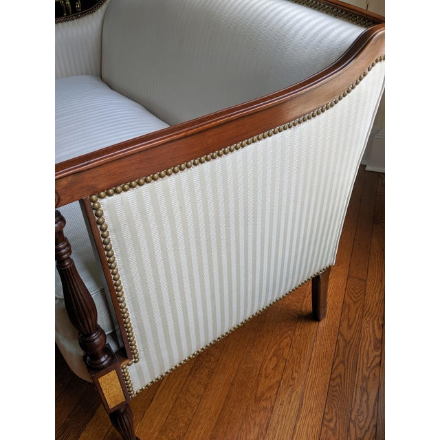 Wood Hickory Chair James River Plantation Settee Loveseat For Sale - Image 7 of 11