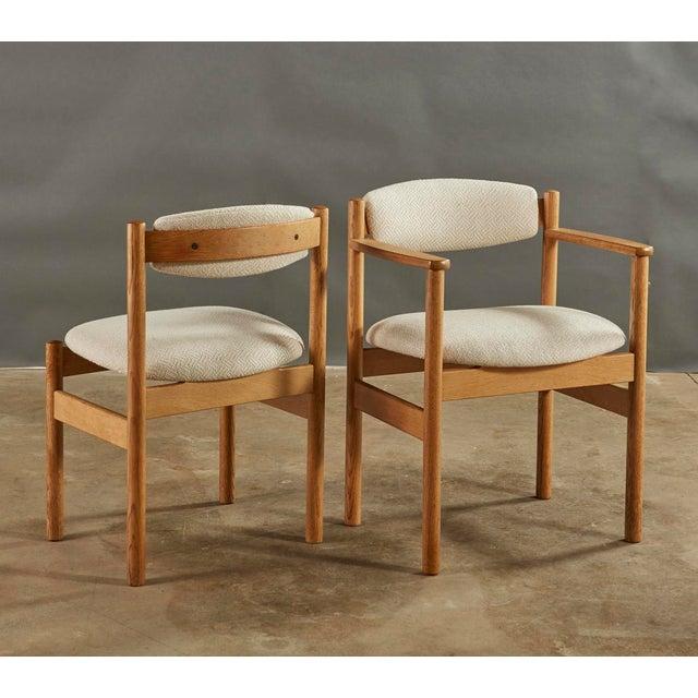 Ivory Set of 6 Danish Oak Dining Chairs for Fdb Mobler by Jørgen Bækmark For Sale - Image 8 of 8