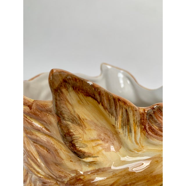 Ceramic Italian Porcelain Fox Head Vase or Cachepot For Sale - Image 7 of 11