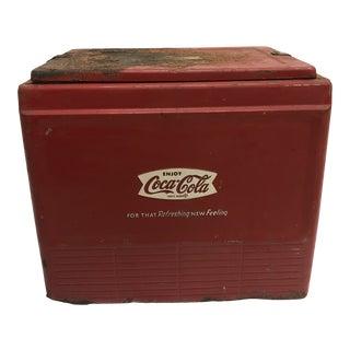 Vintage Metal Coca Cola Advertising Cooler - Project / Restoration Piece For Sale