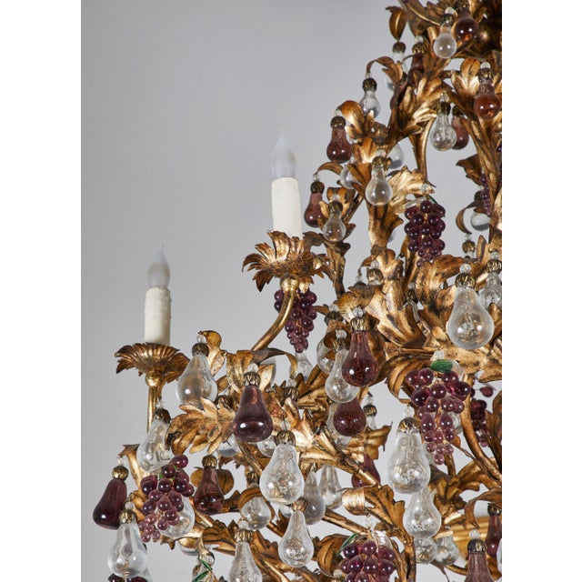 An Elaborate French 1930s Vinegrapes & Drops Chandelier For Sale In Los Angeles - Image 6 of 9