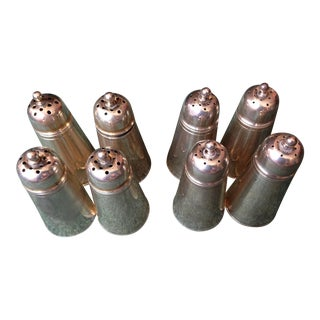 Mid 20th Century Sterling Silver Salt and Pepper Shakers - Set of 8 For Sale