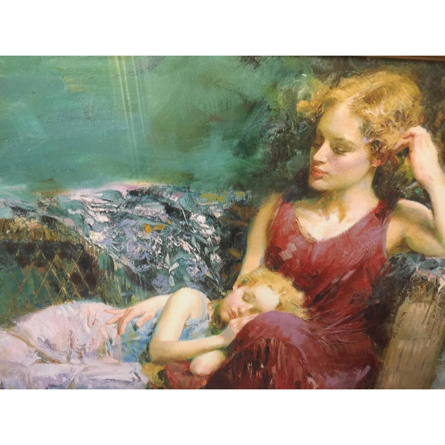 Pino Daeni Lithograph Mother & Child Signed For Sale - Image 4 of 5