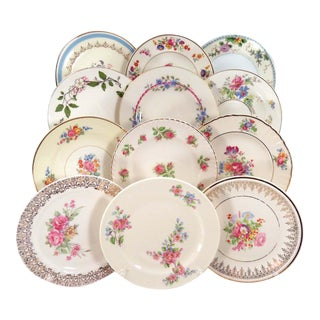 Vintage Mismatched Dessert Plates - Set of 12 For Sale