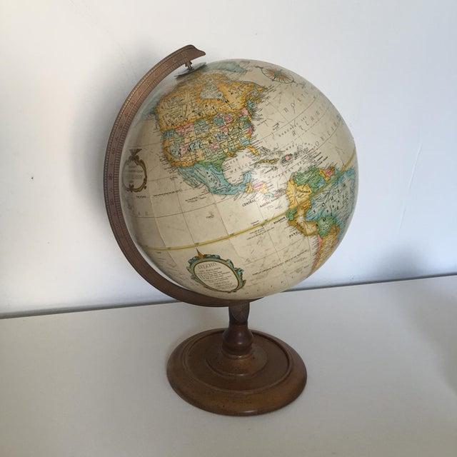 Vintage World Globe on Wooden Base - Image 2 of 3