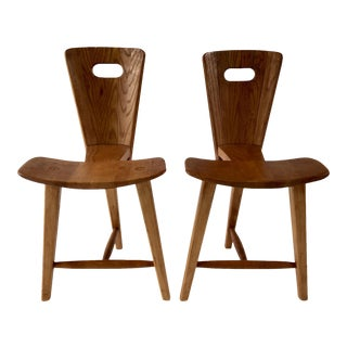 Tage Frid Style 3-Legged Chairs - a Pair