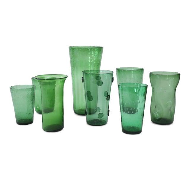 1960s Italian Green Glass Vase For Sale - Image 5 of 7