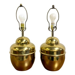 Mid Century Era Brass Urn Table Lamps For Sale