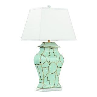 "Baldwin Blue Lamp 33""h For Sale"
